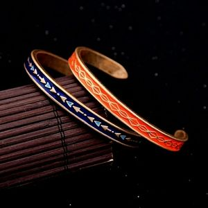 Firm$$ Free People two enamel tribal cuff bangles